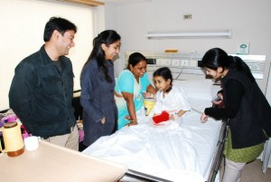 Amity Students 300x201 Bringing Smile to Every Hospitalised Kid