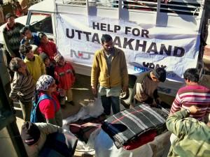 Blanket donation drive for victims of Uttarakhand floods 2013