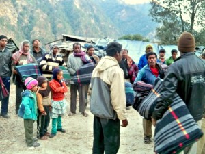 Relief efforts in India China border along with team of Border Road Organisation