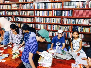 Children reading book at Uday Foundation's Internet de-addiction centre