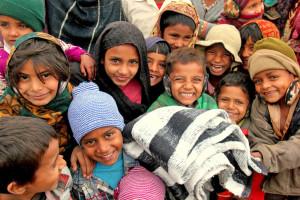 Children in Muzaffarnagar relief camp supported by Uday Foundation