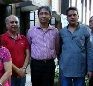 Advocate Ashok Agarwal with Ravish Kumar NDTV and Rahul Verma of Uday Foundation